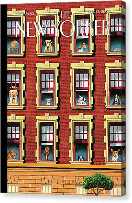 Apartment Canvas Print - New Yorker August 13th, 2007 by Mark Ulriksen