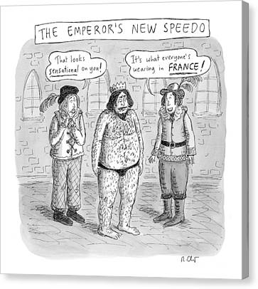 New Yorker January 16th, 2017 Canvas Print by Roz Chast