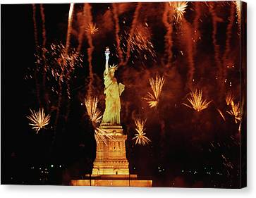 Usa, New York, Statue Of Liberty Canvas Print by Panoramic Images