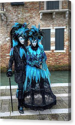Venice At Carnival Time, Italy Canvas Print