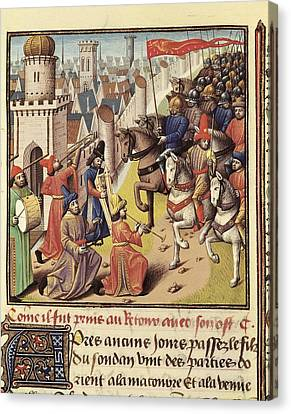 Vincent Of Beauvais 1190-1264. Speculum Canvas Print by Everett