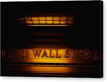 11 Wall St. Building Sign Canvas Print by Panoramic Images