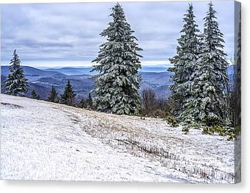 Winter Along The Highland Scenic Highway Canvas Print