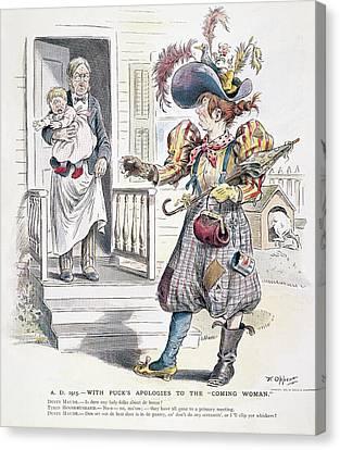 Women's Rights Cartoon Canvas Print