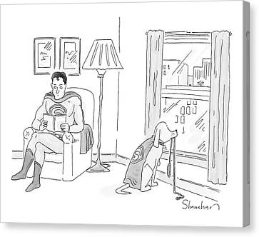 New Yorker March 17th, 2008 Canvas Print by Danny Shanahan
