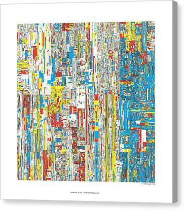 111469 Digits Of Pi Canvas Print by Martin Krzywinski