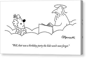 Well, That Was A Birthday Party The Kids Won't Canvas Print by Charles Barsotti