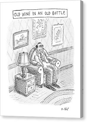 Sour Canvas Print - New Yorker June 2nd, 2008 by Roz Chast