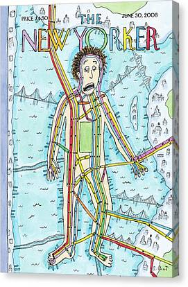 New Yorker June 30th, 2008 Canvas Print by Roz Chast