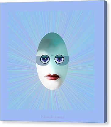 1183 - Egghead Little   Nerd   Canvas Print