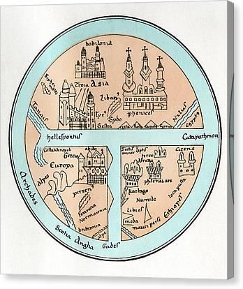 11th Century Globe Canvas Print