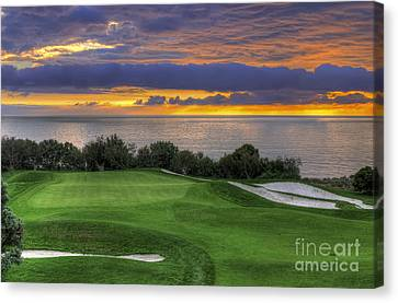 11th Green - Trump National Golf Course Canvas Print by Eddie Yerkish