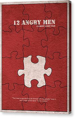 12 Angry Men Canvas Print by Ayse Deniz