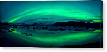 Eco-tourism Canvas Print - Aurora Borealis Or Northern Lights by Panoramic Images