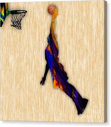 Basketball Canvas Print - Basketball by Marvin Blaine