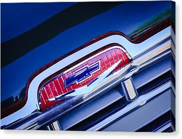 Chevrolet Grille Emblem Canvas Print by Jill Reger