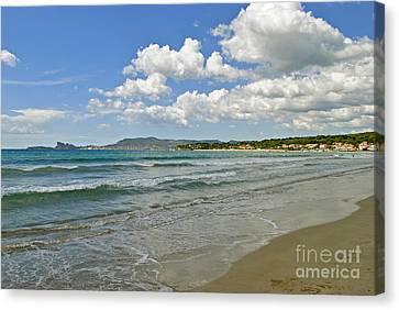 Turquois Water Canvas Print -  Beautiful Seashores Of Cote D'azur by Maja Sokolowska