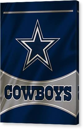 Dallas Canvas Print - Dallas Cowboys Uniform by Joe Hamilton