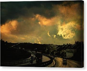 12 Days Of Rain Canvas Print by Taylan Apukovska