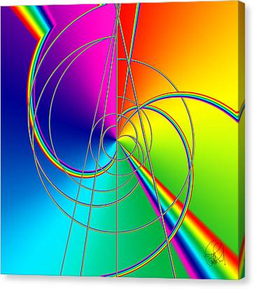 Depression Color Therapy Inside A Rainbow Canvas Print by Sir Josef - Social Critic - ART