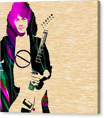 Eddie Van Halen Collection Canvas Print by Marvin Blaine