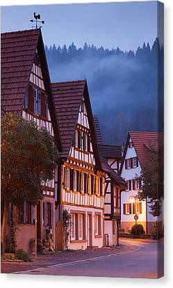 Germany, Baden-wurttemburg, Black Canvas Print by Walter Bibikow