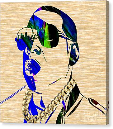 Jay Z Collection Canvas Print by Marvin Blaine
