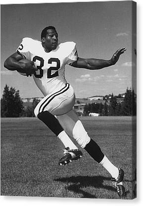 Football Canvas Print - Jim Brown by Retro Images Archive