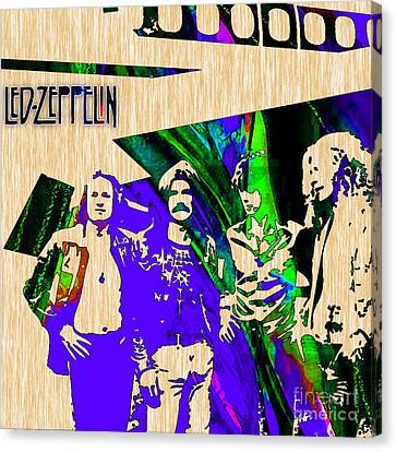 Led Zeppelin Canvas Print - Led Zeppelin by Marvin Blaine