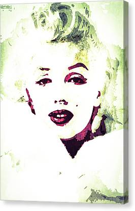 Marilyn Monroe Canvas Print by Svelby Art
