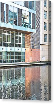 Modern Building Canvas Print by Tom Gowanlock