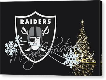 Football Canvas Print - Oakland Raiders by Joe Hamilton