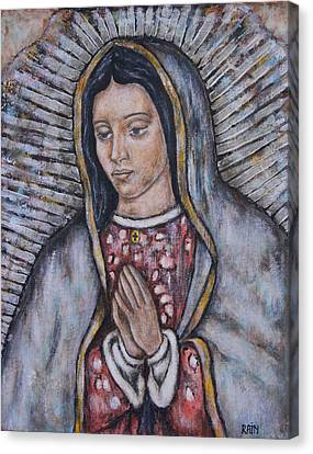 Our Lady Of Guadalupe Canvas Print - Our Lady Of Guadalupe by Rain Ririn