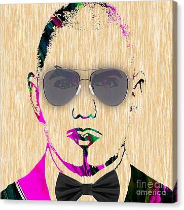 Pitbull Collection Canvas Print by Marvin Blaine