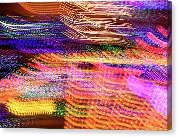 Random Light Trails As Abstract Art Canvas Print by Michael Crawford-hick