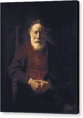 Old Man With Beard Canvas Print - Rembrandt, Harmenszoon Van Rijn, Called by Everett