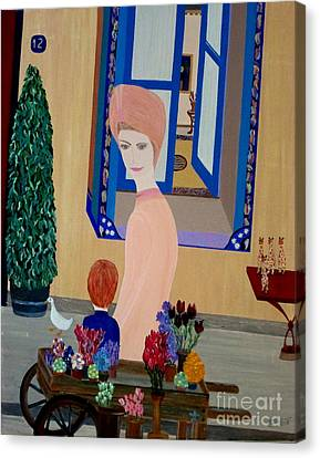Canvas Print featuring the painting 12 Rue Cadet by Bill OConnor