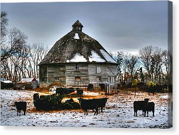 12 Sided Barn Canvas Print by Larry Trupp