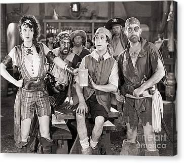 Silent Film Still: Pirates Canvas Print by Granger