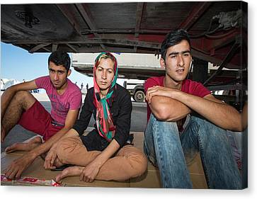 Syrian Refugees Canvas Print by Ashley Cooper