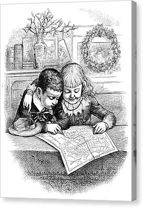 Thomas Nast Christmas Canvas Print by Granger
