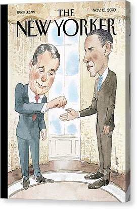 New Yorker November 15th, 2010 Canvas Print by Barry Blitt