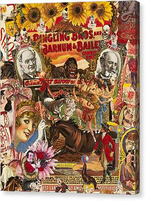 Vintage Circus Collection Canvas Print