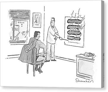 Optometrist Canvas Print - New Yorker June 12th, 2000 by Danny Shanahan