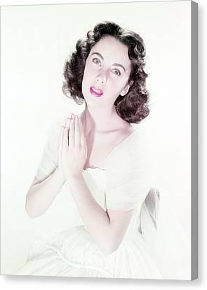 Elizabeth Taylor Canvas Print by Silver Screen