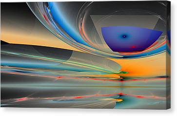 Generative Art Canvas Print - 1227 by Lar Matre