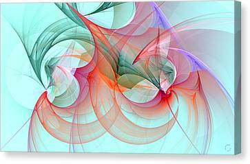 Generative Canvas Print - 1244 by Lar Matre