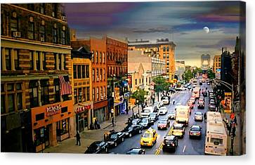125th Street Harlem Canvas Print by Diana Angstadt