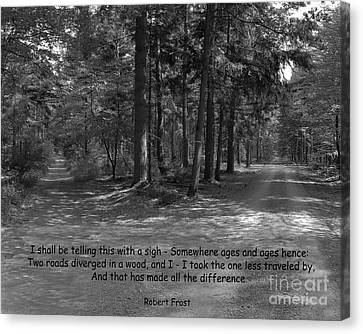 12a- Robert Frost  Canvas Print by Joseph Keane