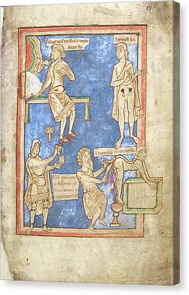 12th Century Medical Manuscript Canvas Print by British Library